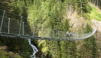 Il ponte tibetano della Val di Rabbi